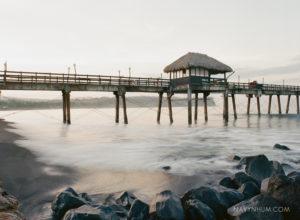 sunset shot on film contax 645 ektar 100 puntarenas beach hilton doubletree pier