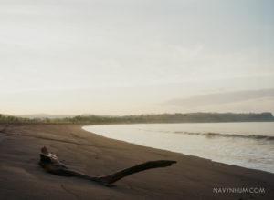 sunset shot on film contax 645 ektar 100 puntarenas beach hilton doubletree