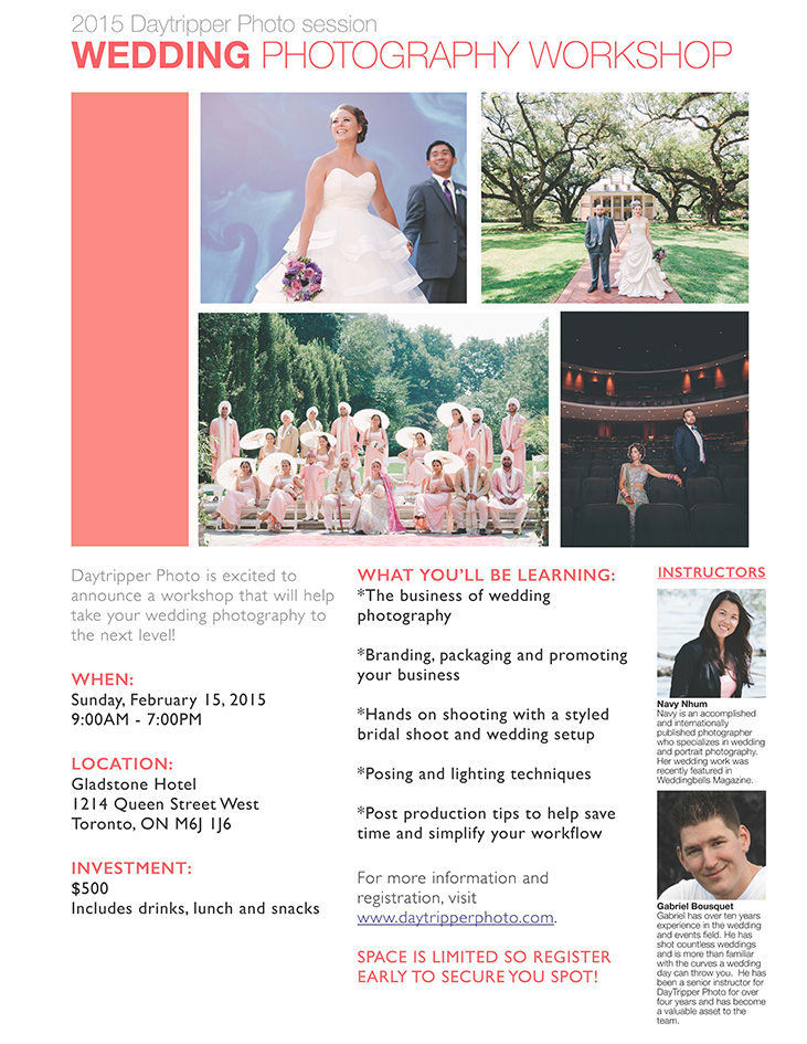 Wedding Workshop Flyer
